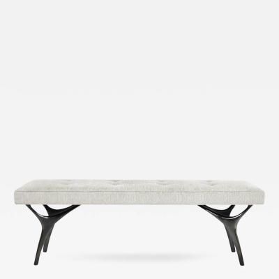 Carlos Solano Granda Crescent Bench in Bronze