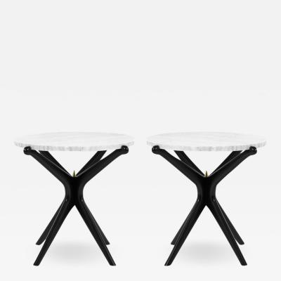 Carlos Solano Granda Ebonized Gazelle Side Tables