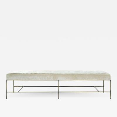 Carlos Solano Granda Extra Long Architectural Bronze Bench in Chenille