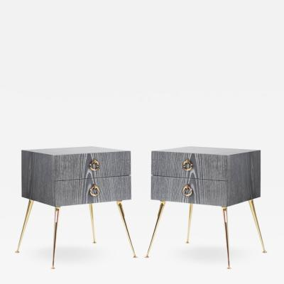 Carlos Solano Granda Gibby Collection End Tables in Limed Oak