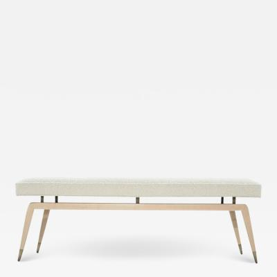 Carlos Solano Granda Gio Walnut Bench in Natural Maple