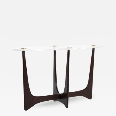 Carlos Solano Granda Lucite Top Opalo Console Table