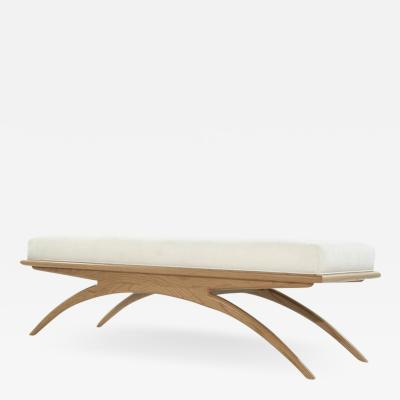 Carlos Solano Granda Natural Oak Convex Bench by Stamford Modern