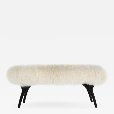 Carlos Solano Granda Stamford Moderns Crescent Bench in Mongolian Wool