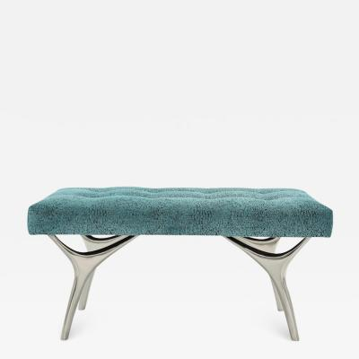 Carlos Solano Granda Stamford Moderns Crescent Bench in Nickel