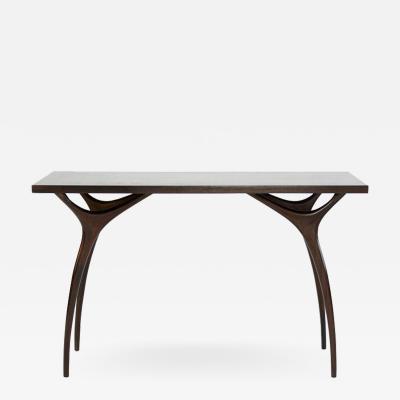 Carlos Solano Granda Stamford Moderns Crescent Console Table in Mahogany