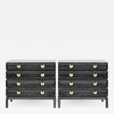 Carlos Solano Granda Stamford Moderns Stacked Bedside Tables in Black Ceruse