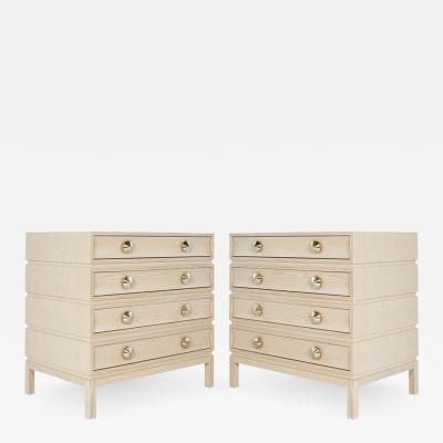 Carlos Solano Granda Stamford Moderns Stacked Bedside Tables in Cerused Oak