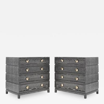 Carlos Solano Granda Stamford Moderns Stacked Bedside Tables in Silver Ceruse
