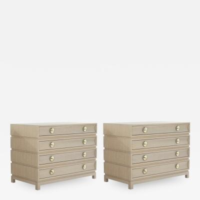 Carlos Solano Granda Stamford Moderns Stacked Commodes in Cerused Oak