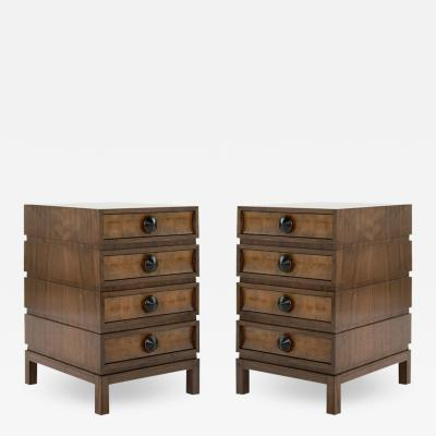 Carlos Solano Granda Stamford Moderns Stacked End Tables in Walnut