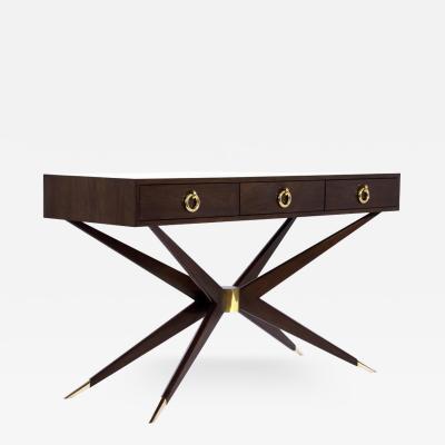 Carlos Solano Granda Walnut Sputnik Console Table