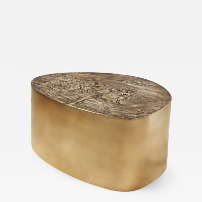 Carlyle Collective Albeo I Cast Brass Coffee Table
