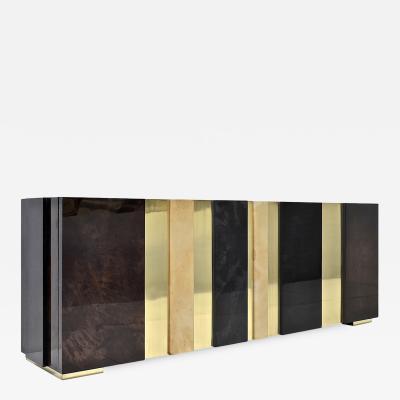 Carlyle Collective Gateau Sideboard Goatskin Brass