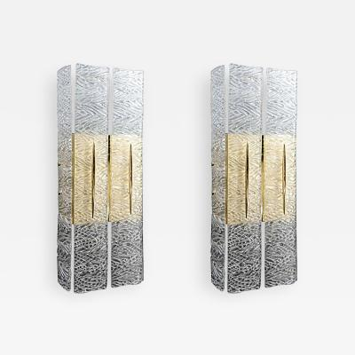 Carlyle Collective Murano Textured Glass Sconces