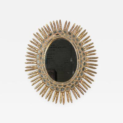 Carlyle Collective Vintage Spanish Oval Giltwood Sunburst Mirror