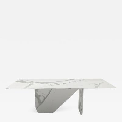 Carlyle Collective White Statuario Dining Table