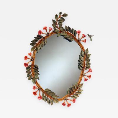 Carol Canner Carvers Guild Hummingbird Trumpet Vine Mirror