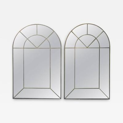 Carol Canner Carvers Guild PAIR OF MODERNIST COLONIAL ARCH MIRRORS BY CAROL CANNER FOR CARVERS GUILD
