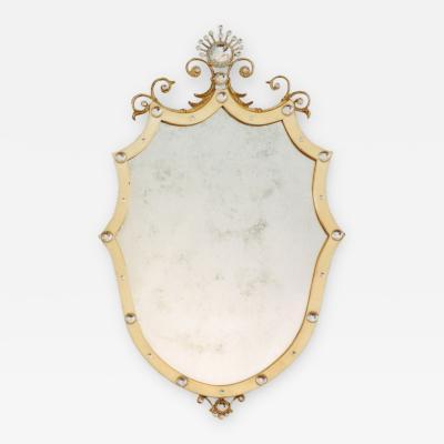 Carol Canner Carvers Guild SHIELD WITH CRYSTALS MIRROR
