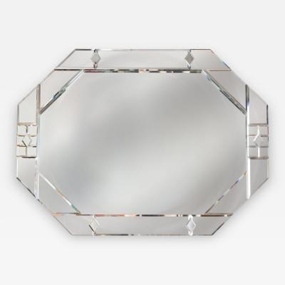 Carol Canner Stylized Octagonal Mirror Framed by Carol Canner for Carvers Guild