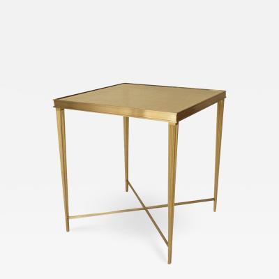 Carole Gratale Louis XVI Bronze Aglomise Glass End Table