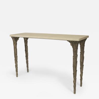 Carole Gratale Patinated Bronze Console Table
