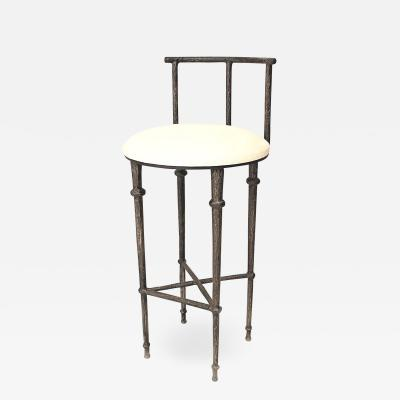 Carole Gratale Post War Giacometti Textured Bar Stool