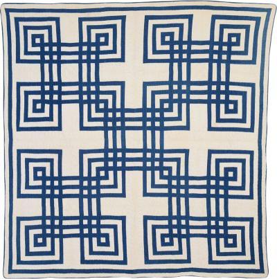Carpenter Square Quilt Circa 1880 Pennsylvania