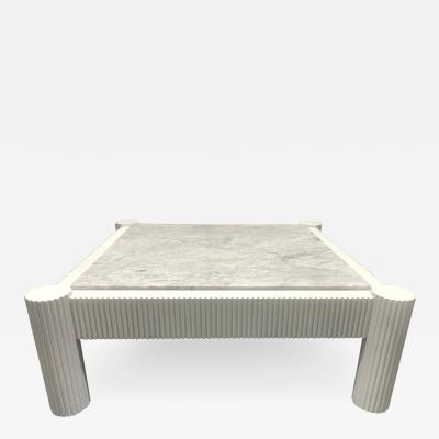 Carrara Marble Top Coffee Table