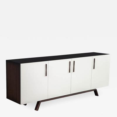 Carrocel Interiors Custom Modern Brass and Walnut Sideboard by Carrocel
