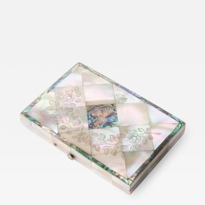 Carte du Visite case of Mother of Pearl and Abalone