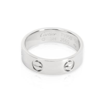 Cartier Love Ring in Platinum Size 54