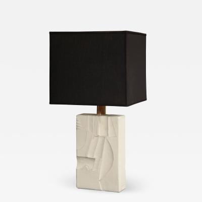 Carved Ceramic Table Lamp