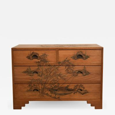 Carved Colonial Chest of Drawers from the 1910s