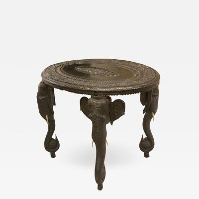 Carved Ebony Center Table