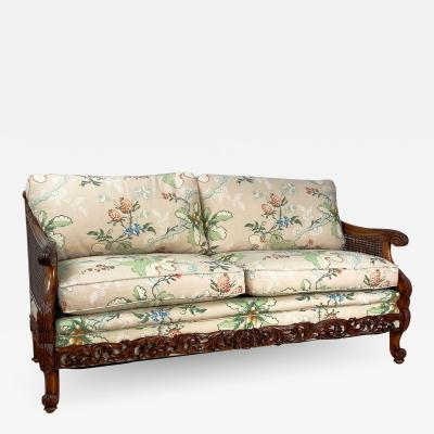 Carved Fruit Wood Love Seat Switzerland Circa 1920