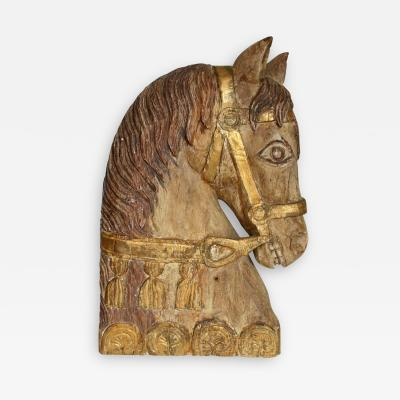 Carved Gilded Horse Head