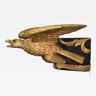 Carved Gilt Figurehead of an Eagle from Schooner FLEETWING