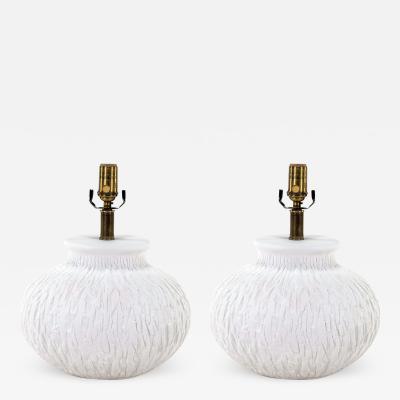 Carved Gourd White Plaster Lamp