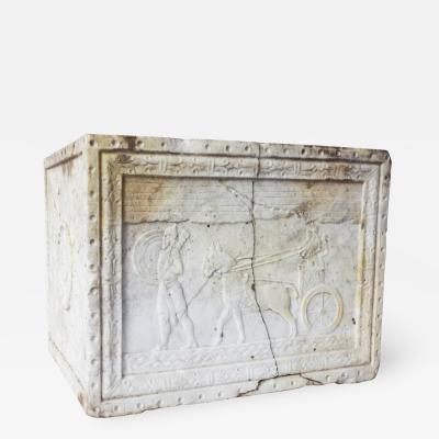 Carved Marble Planter