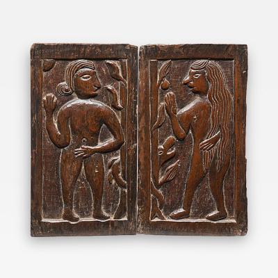 Carved Panels Adam Eve