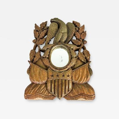Carved Patriotic Mirror