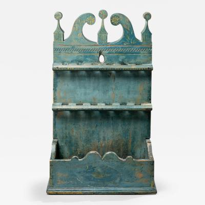 Carved Spoon Rack with its Original Painted Decoration
