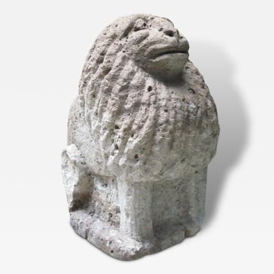 Carved Stone Italian Lion Sculpture