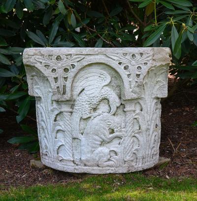 Carved Stone Wellhead
