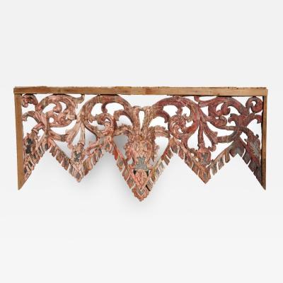 Carved Temples Entrance Arch with Original Color