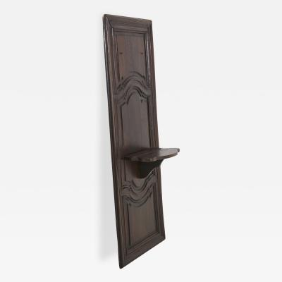 Carved Wall Panel With Integrated Shelf Bracket 19th Century