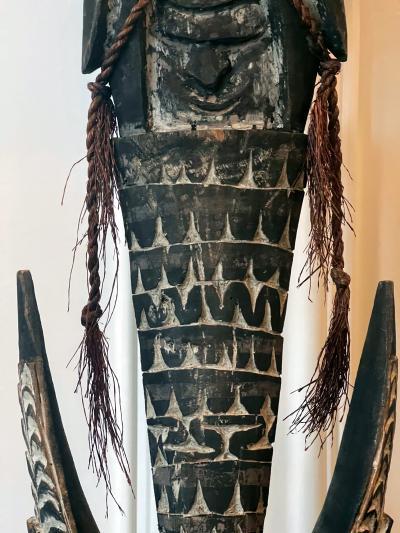 Carved Wood Hook Figure Papua New Guinea