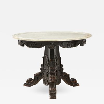 Carved and Ebonized Anglo Indian Center Table